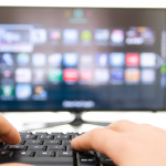 Smart tv and keyboard connect to the internet